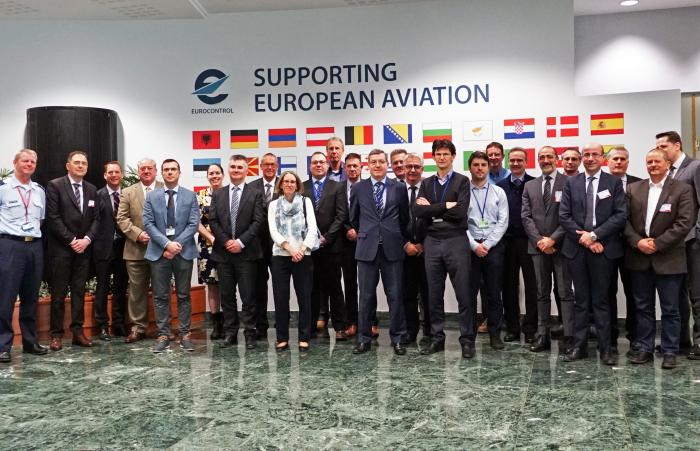 The members of the EUROCONTROL's Civil-Military CNS Focus Group at our Brussels headquarters.